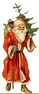 Father Christmas in red robe